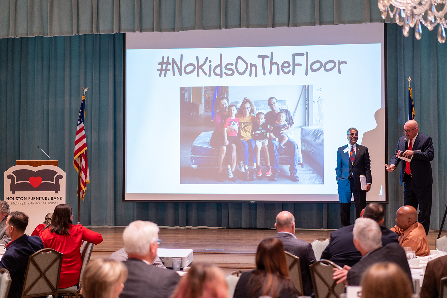 Hal Lynde and Oli Mohammed at the No Kids on the Floor Breakfast
