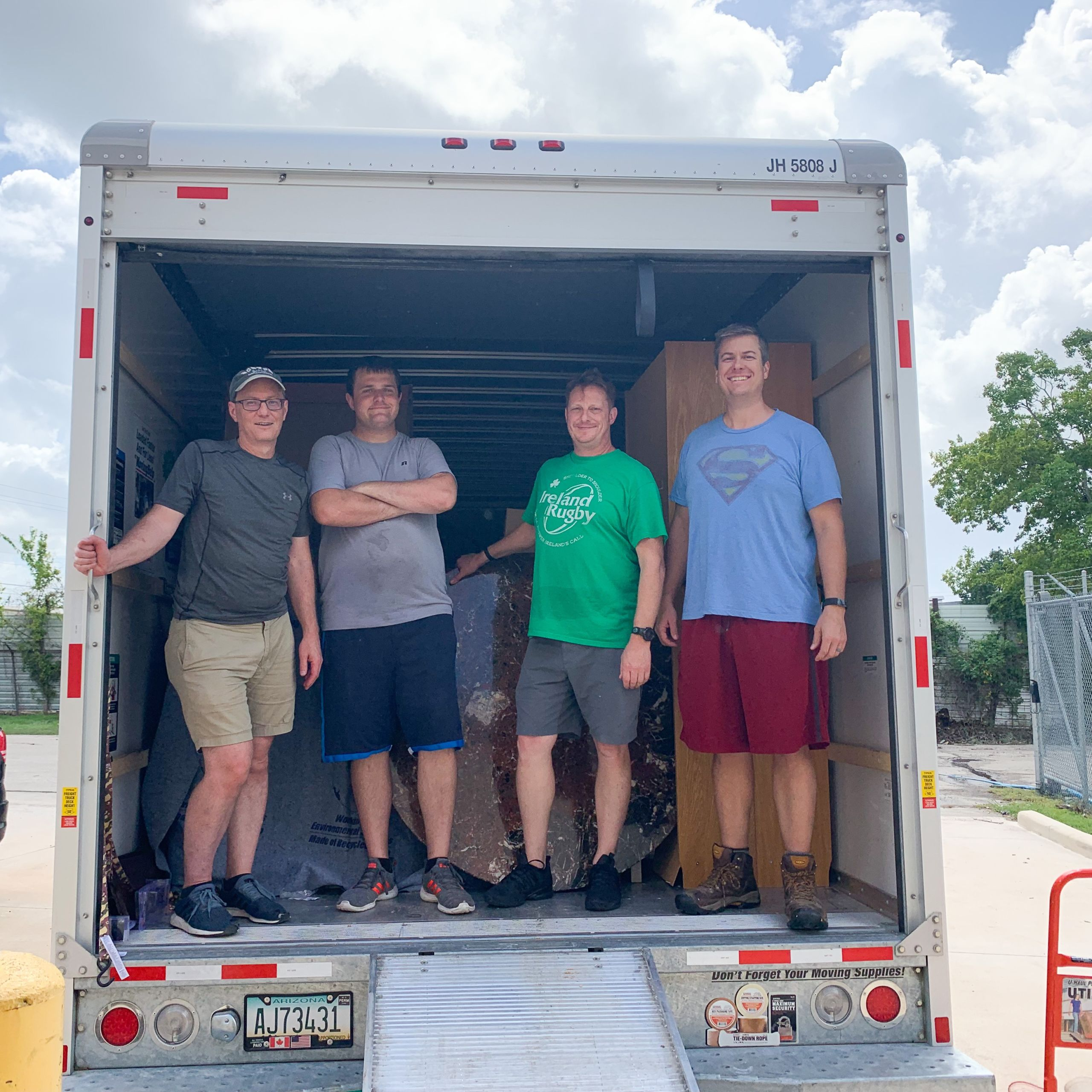 Houstonians delivering furniture to Houston Furniture Bank